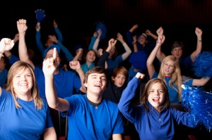 Real People Audience: Adults Children Spectators Sports Enthusia